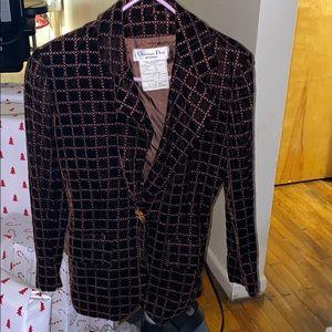 Christian Dior Boutique Evening Velour Blazer